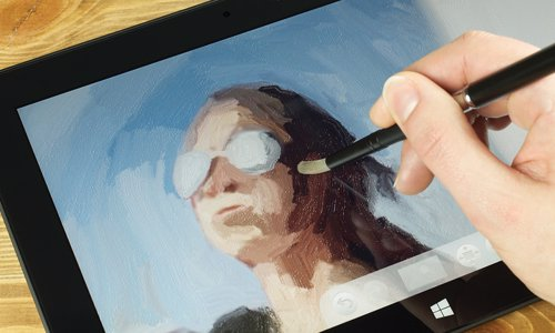 Artist Brush &  Stylus for Tablet or Phone - One of the best brushes available to create realistic paintings on your digital devices