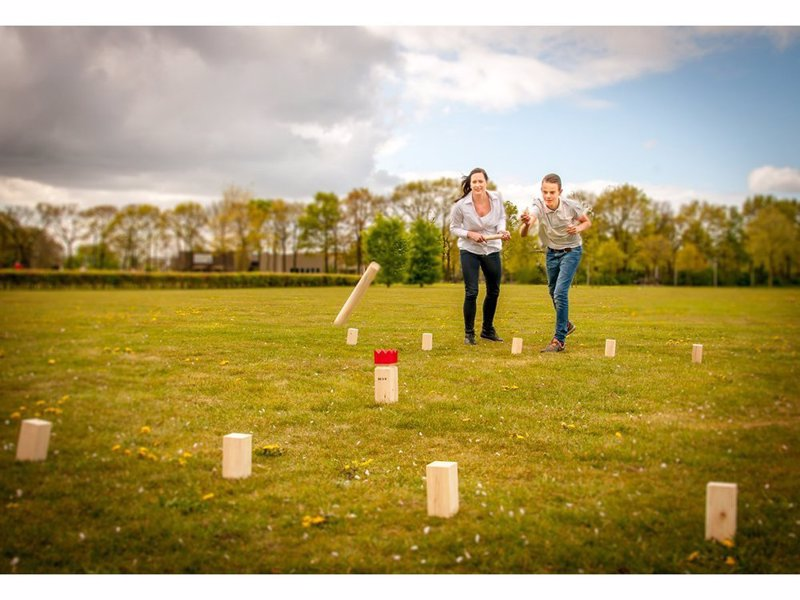 Kubb - Award Winning Lawn Game - This fantastically fun ancient Viking game is a test of accuracy and strategy
