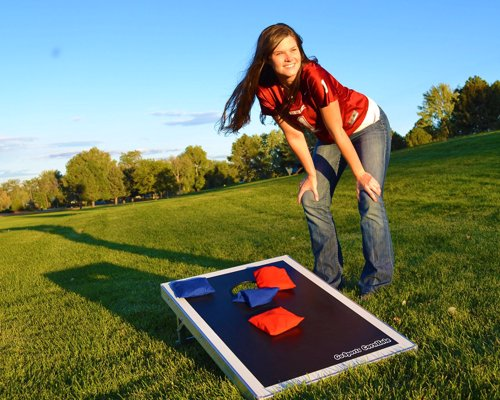 Portable Cornhole - Cornhole you can carry - ideal for tailgaters, backyard BBQs, campsites, and more