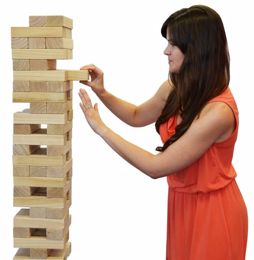 Giant Jenga - Giant outdoor version of the classic tumbling tower game