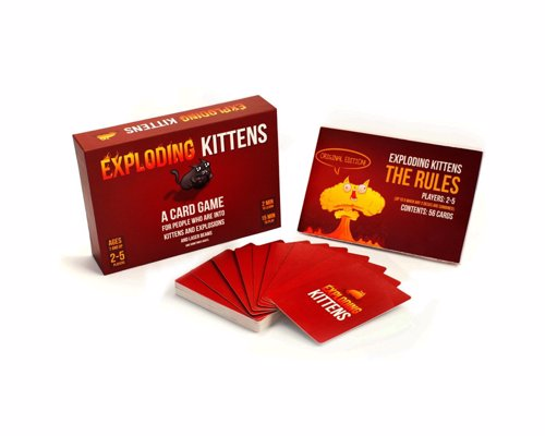 Exploding Kittens - Quick fire card based party game with quirky humor from the the creator of The Oatmeal web cartoon