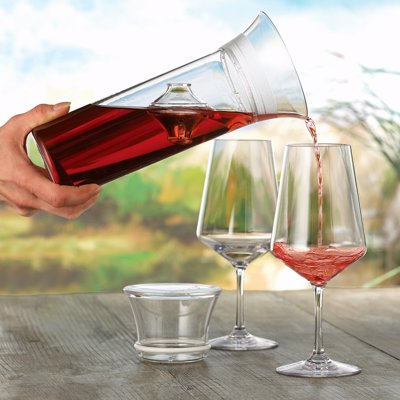 Savino Wine Saving Carafe - Keeps your wine fresh for up to a week so you can enjoy Tuesday's wine on Saturday