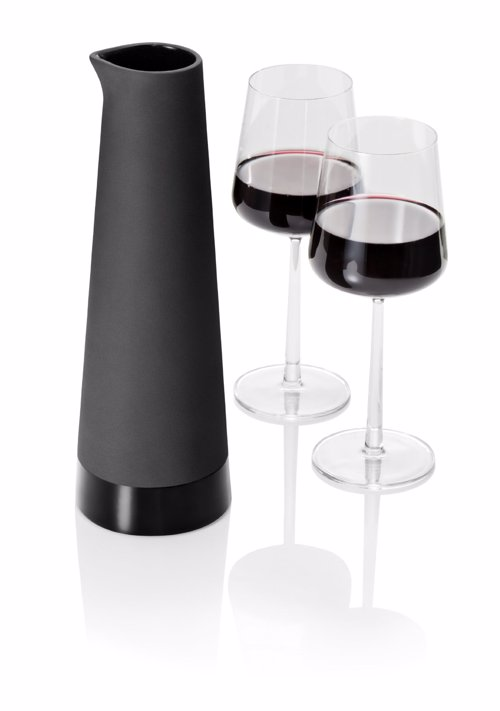 Minimalist Ceramic Carafe - Stylish black ceramic carafe for the wine lover who like to keep things simple