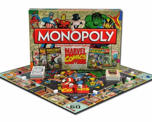 Marvel Comics Monopoly - Marvel Comics Collector's Edition of the classic board game