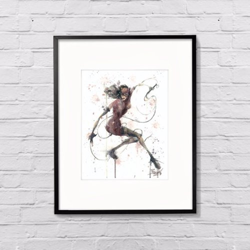 Arty Superhero Watercolor Prints - Show off your super hero fandom with a classy original painting
